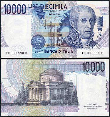 Collezione Personale Di Banconote Italiane Lira Italiana