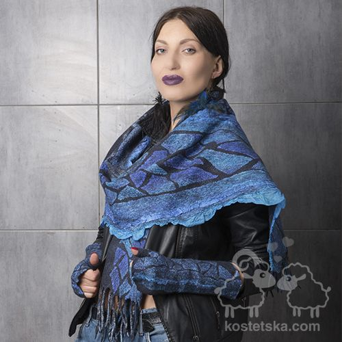 """Photo of Scarf """"Siniy ptakh"""" – Clothes and accessories from wool"""