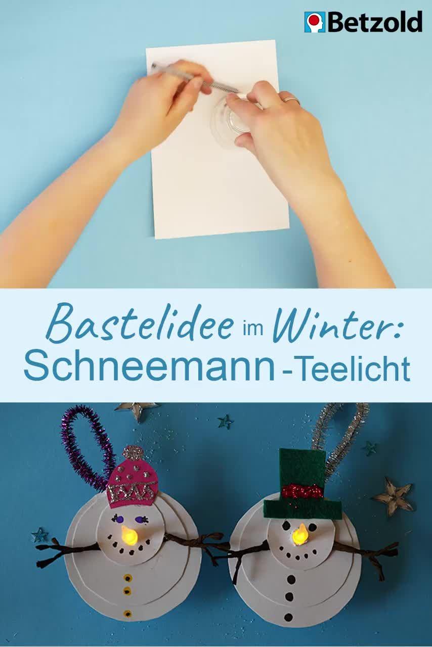 Photo of Winter crafts: Snowman tealight