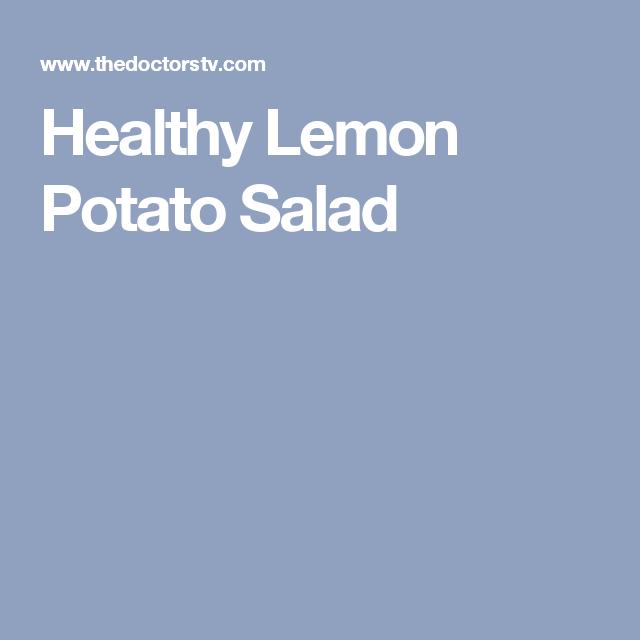 Healthy Lemon Potato Salad