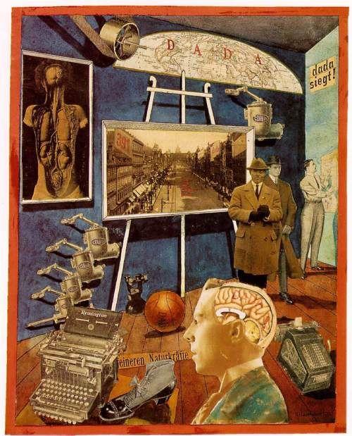 Raoul Hausmann, Dada Conquers, 1920 | Soyut, Kolaj, Sanat