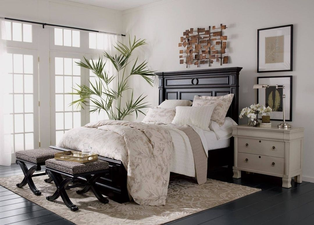 A statement piece with impressive moldings this warwick bed is