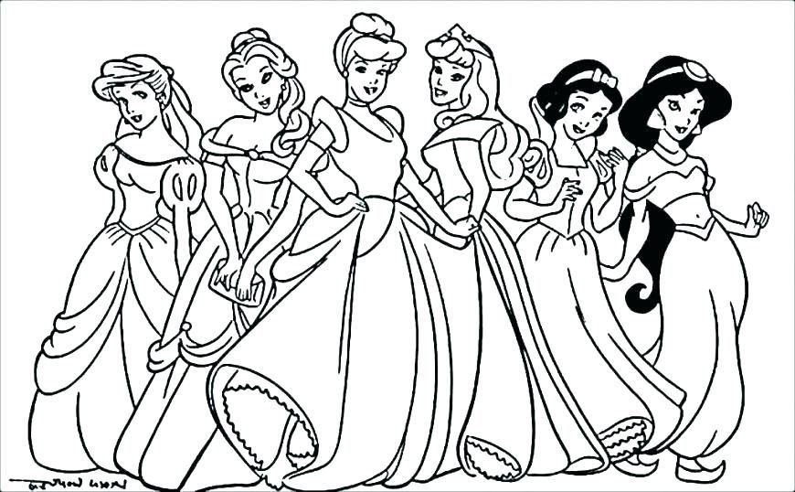 Cute Disney Princess Coloring Pages For Girls Princess Coloring Pages Disney Princess Coloring Pages Belle Coloring Pages