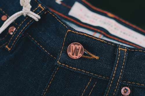 Williamsburg Garment Company – Hope St. Raw Denim | Whiskey Grade - Denim Details