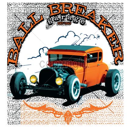 1943 Hot Rod Car T Shirt Ball Breaker Garage Established Mens T Shirt 17063 Hot Rods Cars Hot Rods Car