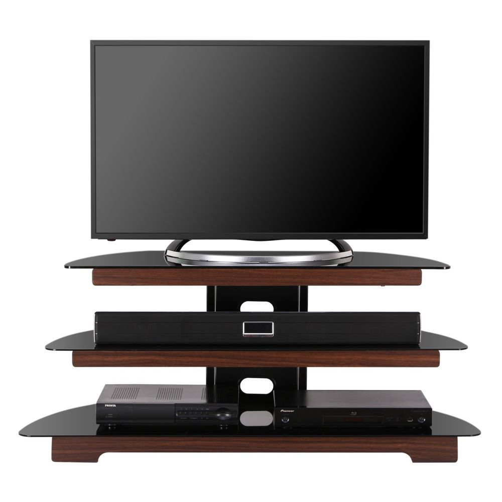 tv stand entertainment center media furniture console storage cabinet home glass tv stand. Black Bedroom Furniture Sets. Home Design Ideas