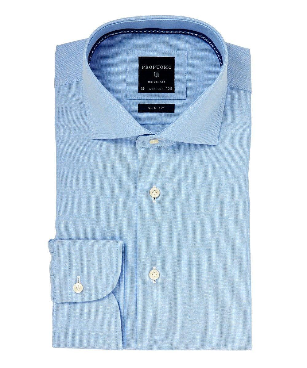 Blauw oxford katoenen shirt