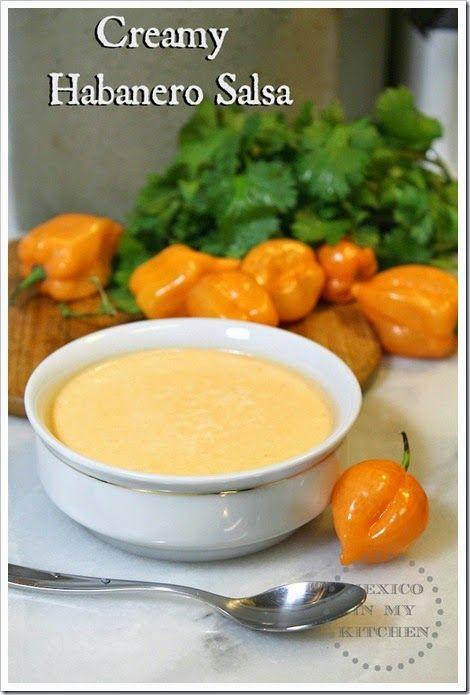 Creamy Habanero Salsa Authentic Mexican Food Recipes Recipe Mexican Food Recipes Authentic Habanero Salsa Mexican Food Recipes