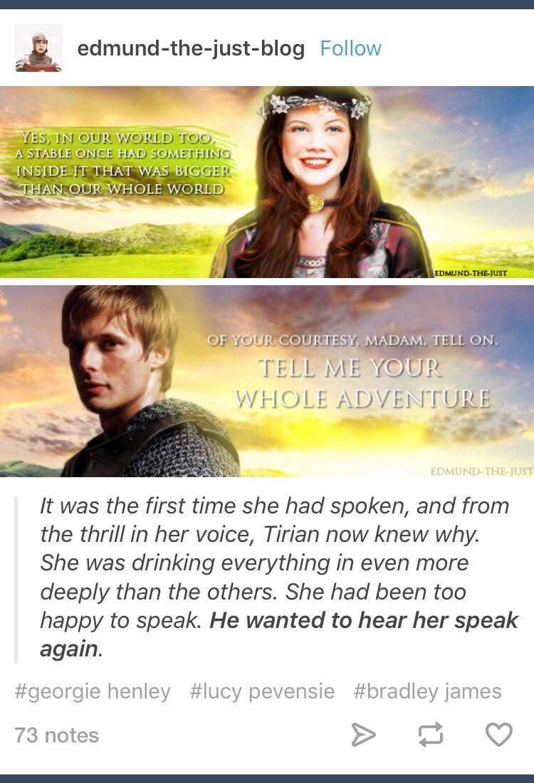 The Chronicles of Narnia; Lucy Pevensie; King Tirian