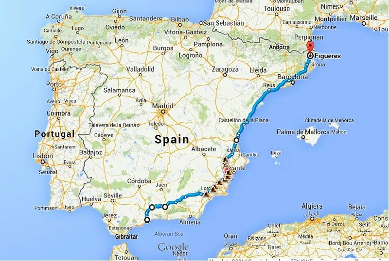 Road Map Of France Spain And Portugal.The Ultimate Spain Road Trip Itinerary Bruised Passports