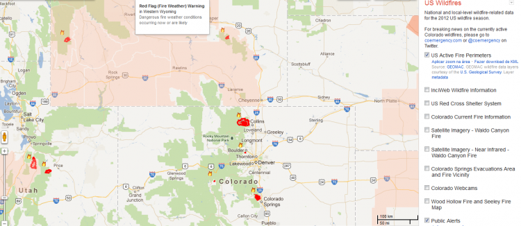 Crisis Response Releases Interactive Wildfire Map - Us wildfires google map