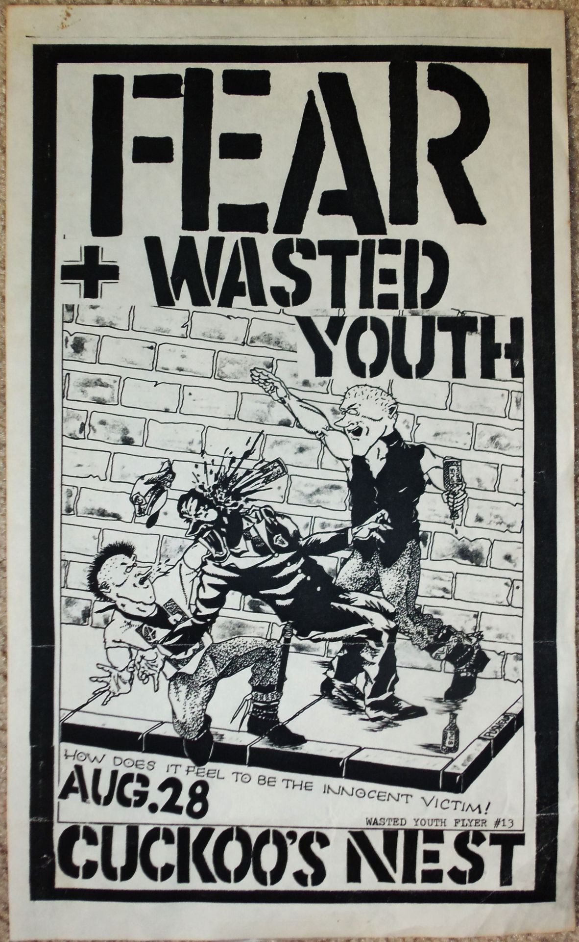 Fear / Wasted Youth flyer…………….