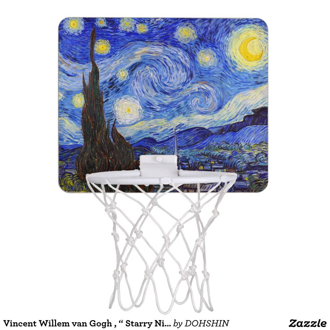 "Vincent Willem van Gogh , "" Starry Night "" ミニ バスケ ネット"