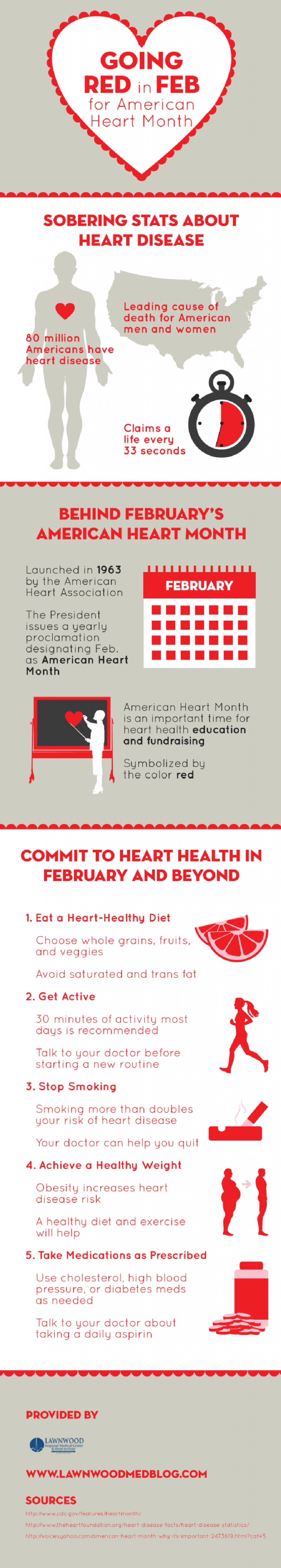 Go Red In February For American Heart Month