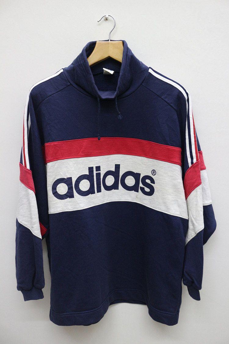 3120115b59f94 Vintage ADIDAS TriFoil Big Logo Run DMC Hip Hop Swag Streetwear ...