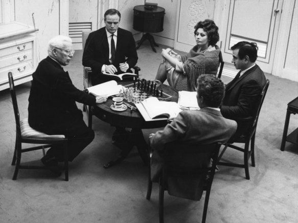 Charlie Chaplin, Marlon Brando, Sophia Loren, productor Jerry Epstein click on th e pic for the story