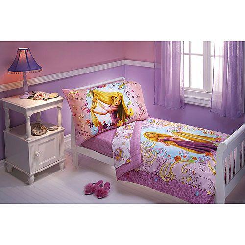Purple Princess Bed New 4pc Tangled Toddler Bedding Disney