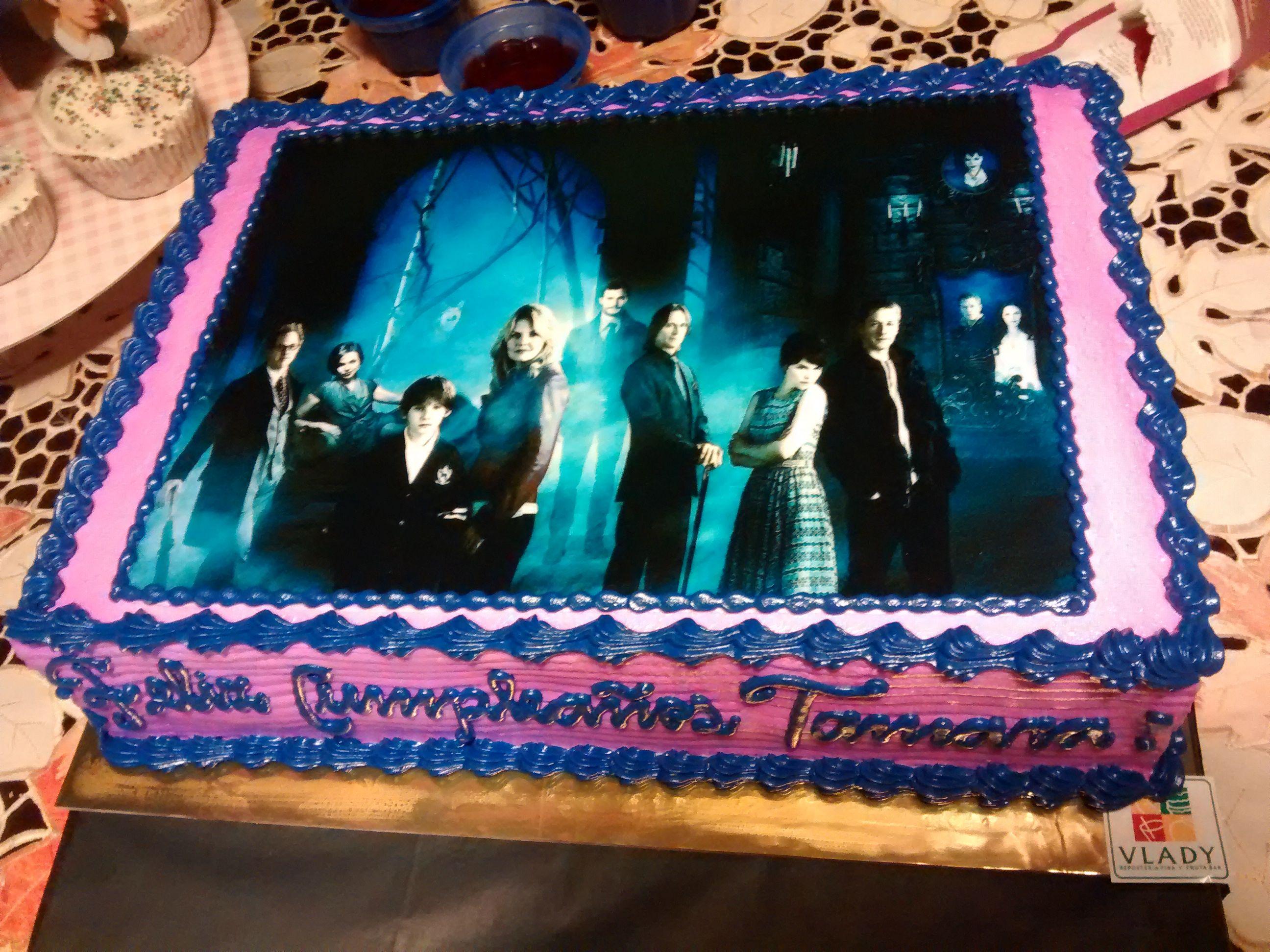 Torta de 20x30 cm con foto impresa comestible