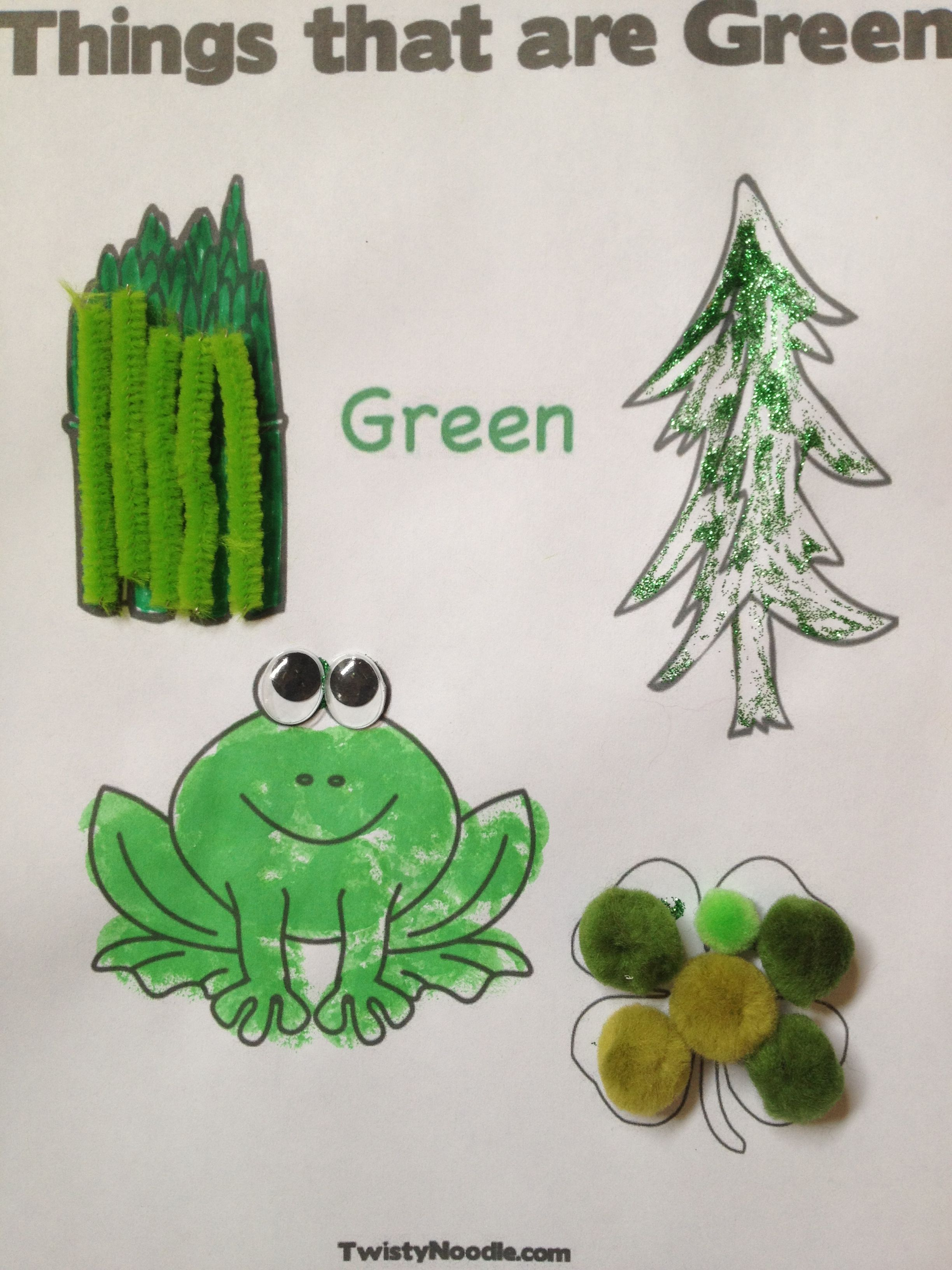 Color of the Day... Green! | Coloring Pages | Pinterest | Worksheets