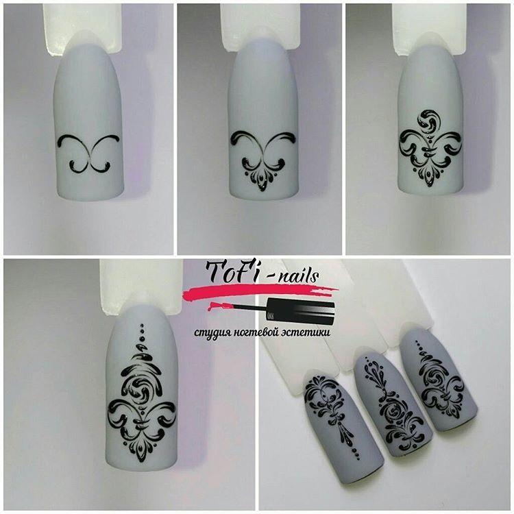 Пошагово уроки дизайна ногтей