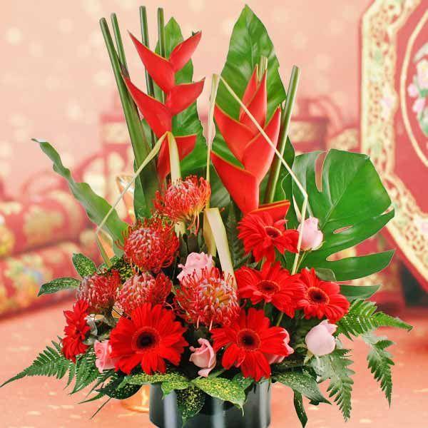 Lunar new year flowers arrangement zhong shi pinterest