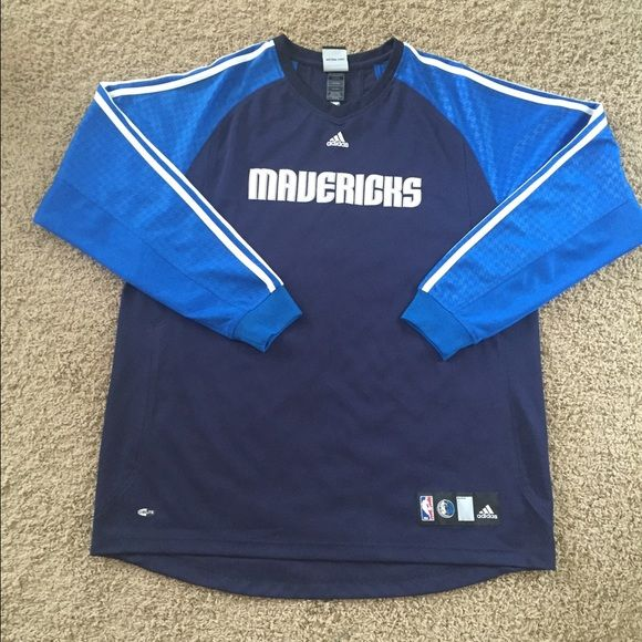 Dallas Maverick's Adidas Warm up shirt Climalite technology. Long sleeve Jersey material. Light weight. No tags but was never worn. Size XL. Adidas Other
