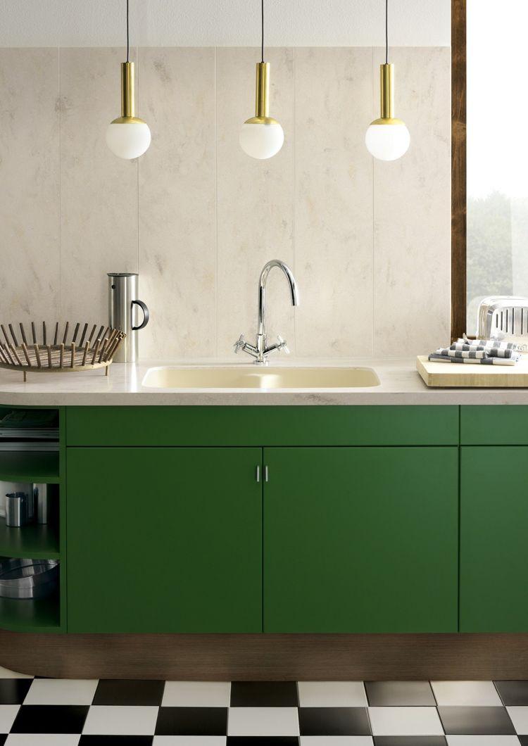 arbeitsplatte corian küche dupont modern minimalistisch weiss ...