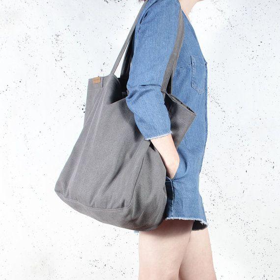 Lazy bag graphite shoulder grey tote zipped up pockets oversized extra  large beach bag market bag ev 841d6713bb752