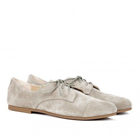 Light suede oxfords