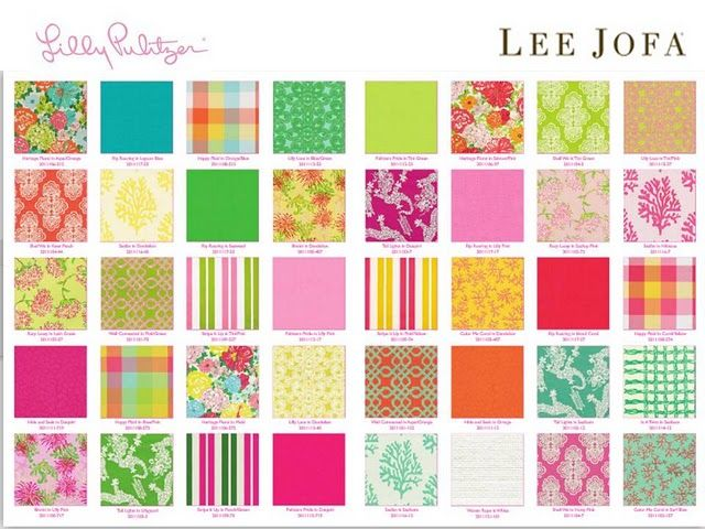 Come check out the Lee Jofa for Lilly Pulitzer fabrics at