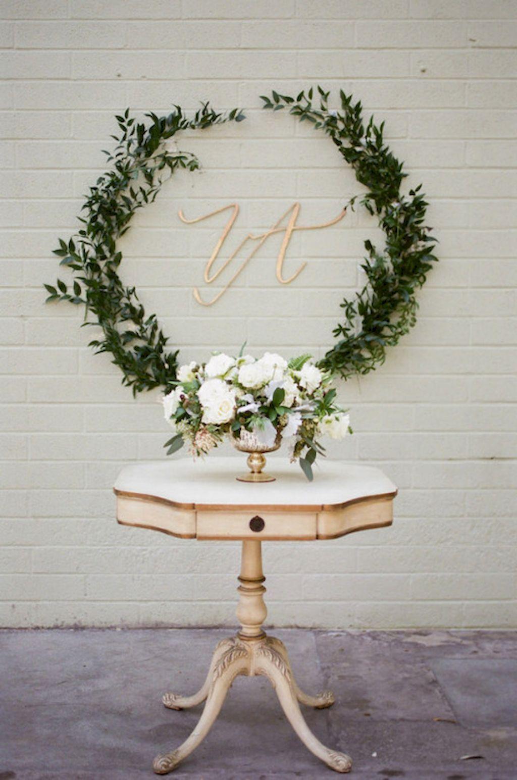Wedding decor ideas simple   Simple Greenery Wedding Centerpieces Decor Ideas  BuJ Rehearsal