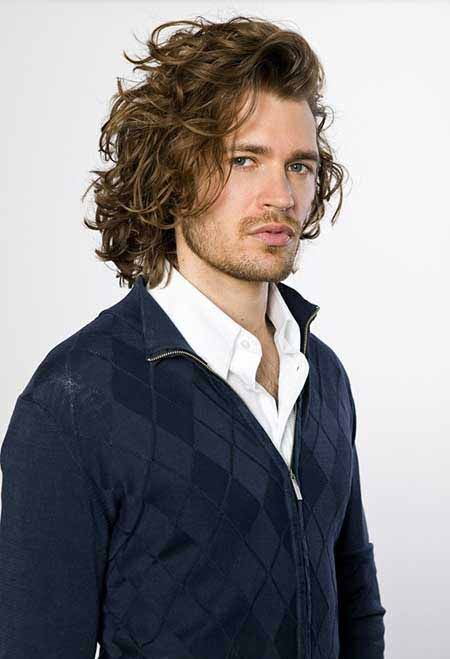 The Wild Style Of The Long Curly Hairstyles For Men Pins
