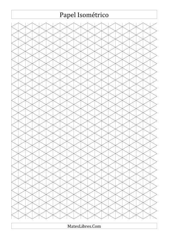 Papel Isométrico de 1 cm (Vertical) (A)   Nuevas Hojas de Ejercicios ...