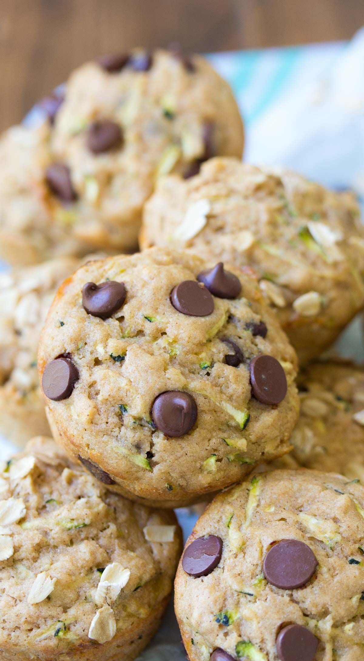 Healthy Zucchini Muffins Made With Chocolate Chips Or Oats Buttermilk Adds Zucchini Chocolate Chip Muffins Chocolate Zucchini Muffins Chocolate Chip Muffins