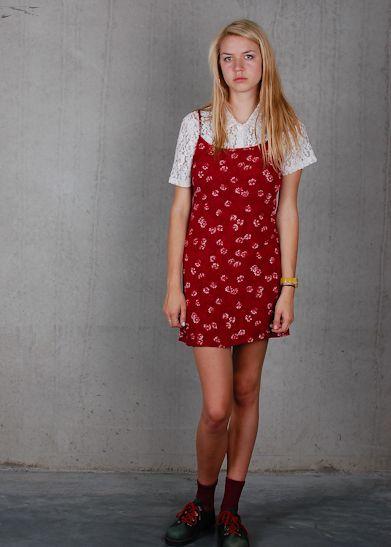 Red dress vintage 90