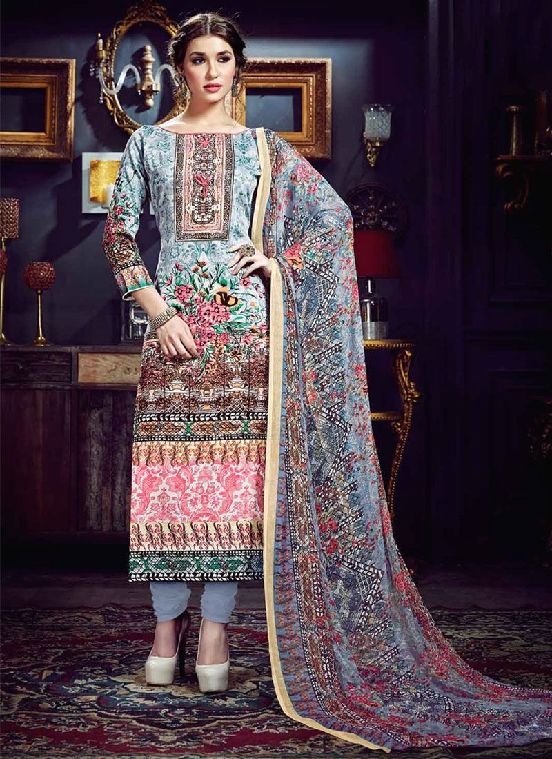Shop online stylish beautiful salwar suits. Order this cotton silk ...