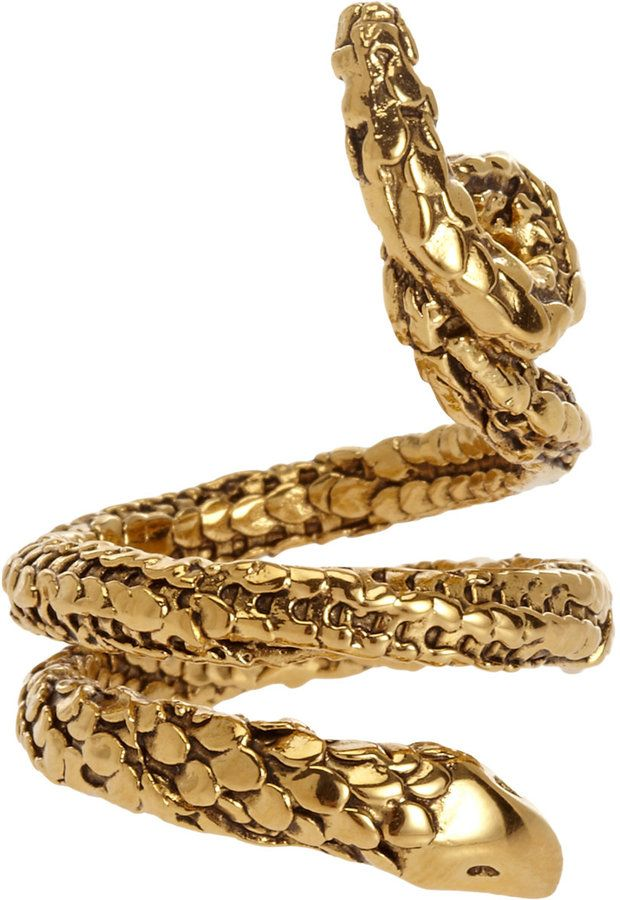 0a91b4690 Aurelie Bidermann Gold Tao Snake Ring on shopstyle.com   fashion ...