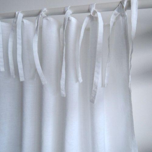 rideau en lin lav blanc finition nouettes decoclico maison rideaux pinterest rideaux en. Black Bedroom Furniture Sets. Home Design Ideas
