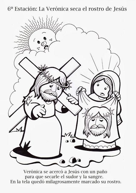 La Catequesis Vía Crucis Para Colorear Los Niños De Catequesis
