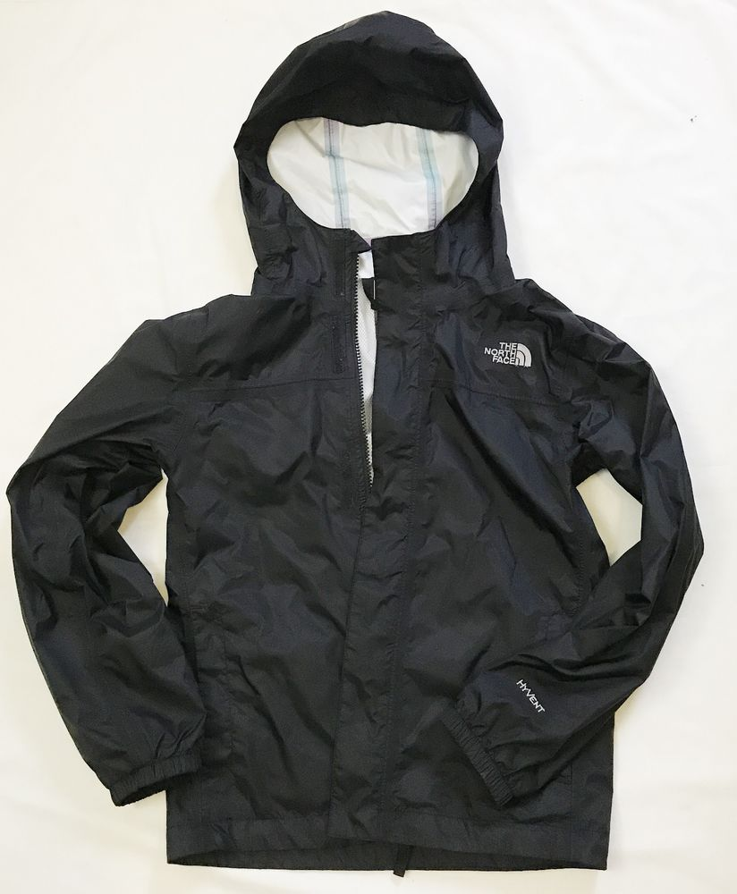 c8c9ef1a2 The North Face Black Hyvent Girl's Zipline Rain Jacket AQUZ size M ...