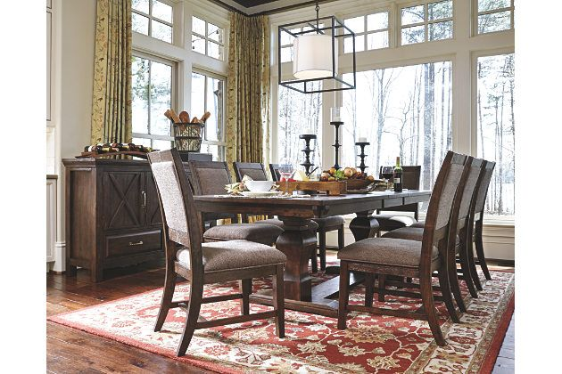 Dark Brown Windville Dining Room Table View 6 Modern Dining