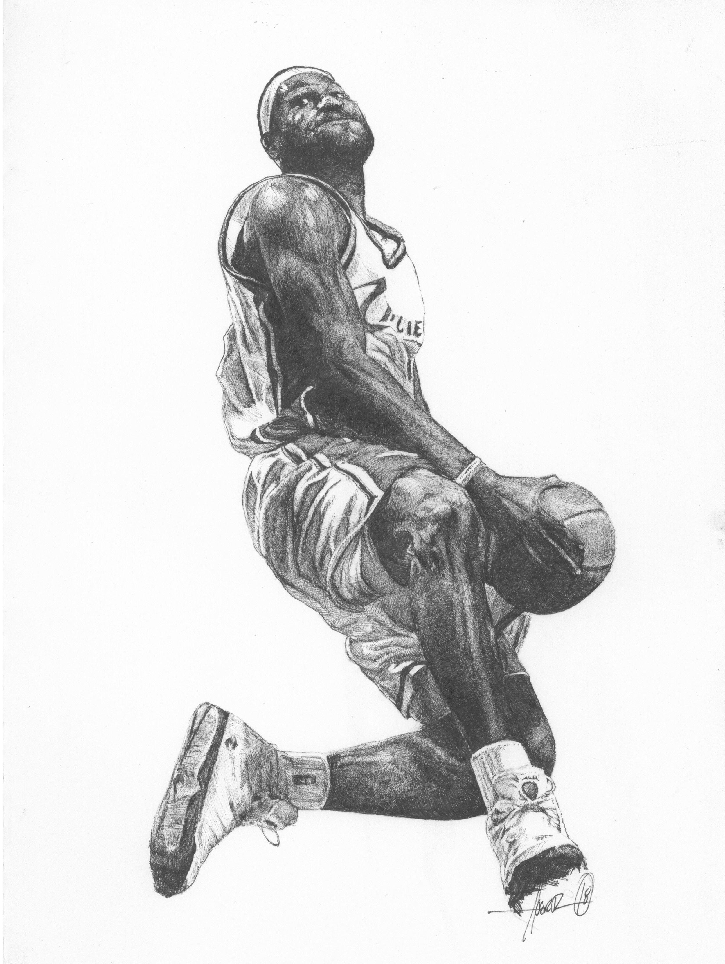 Lebron James Drawing Art