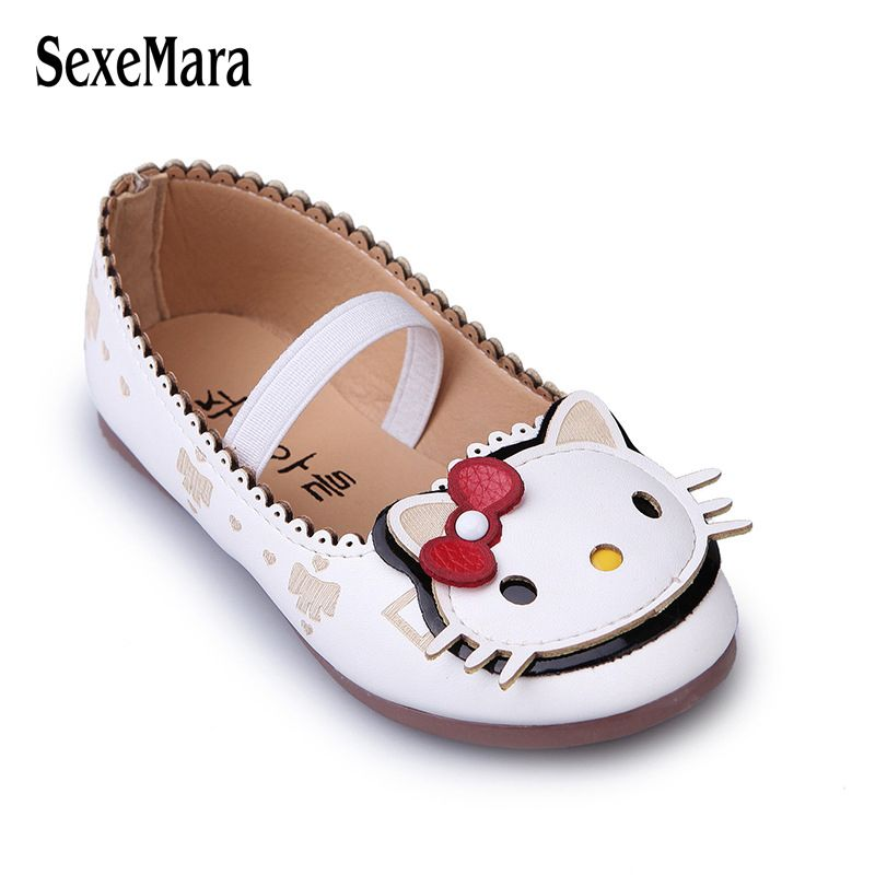 fa815ab47 Wholesale Children Shoes for Girls Sneakers Soft Sole Kids Flats Loafers  Shoes Cute Hello Kitty Princess
