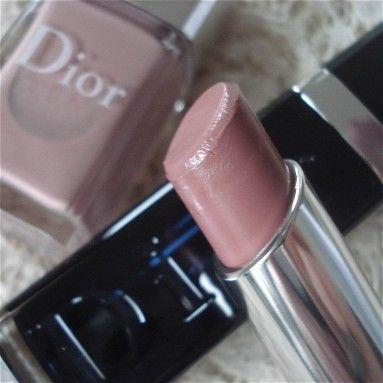Lipstick and nail polish Incognito by Dior. Love the color