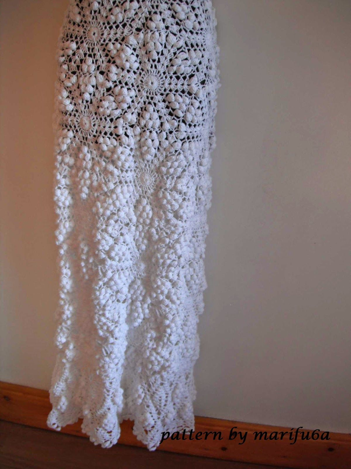 Free crochet patterns and video tutorials  HOW TO CROCHET WEDDING DRESS  PATTERN TUTORIAL e3dc5abad821