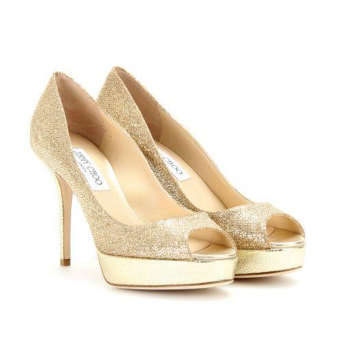 Zapatos glitter con plataforma de Jimmy Choo