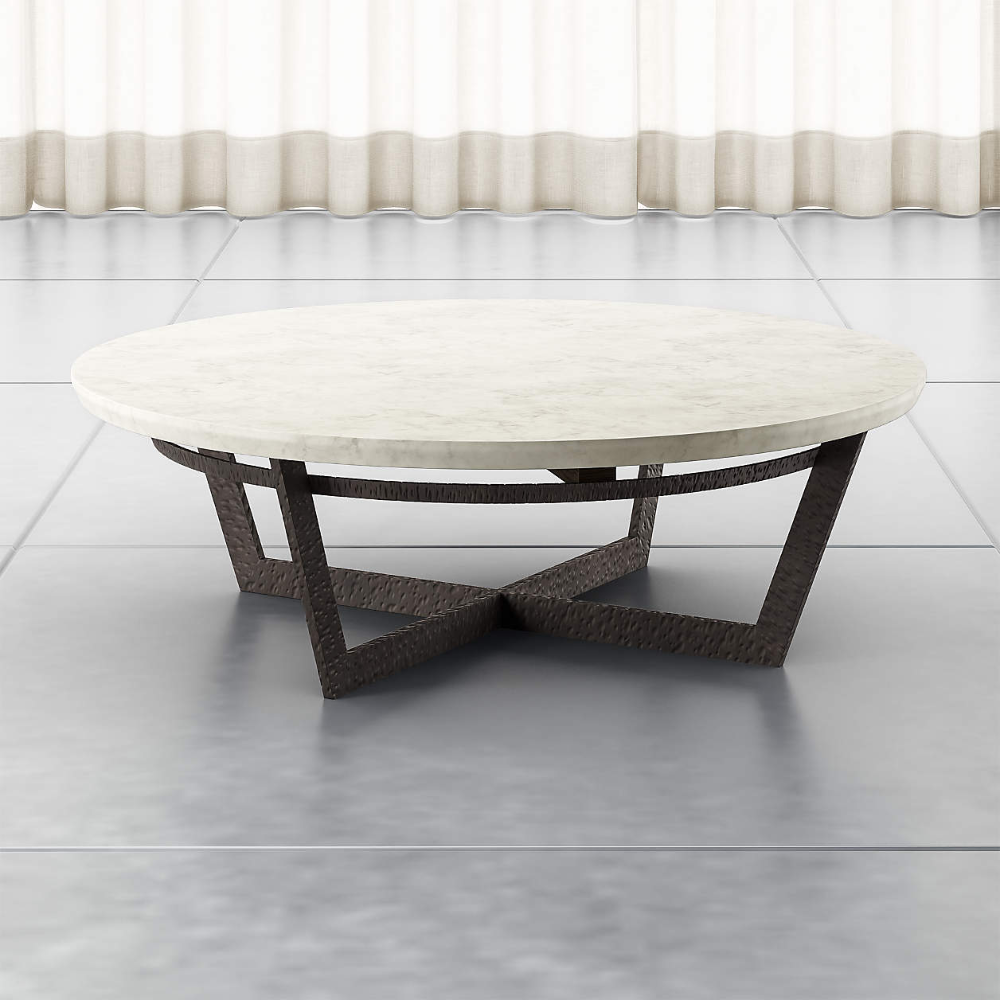 Verdad Round White Marble Coffee Table Reviews Crate And Barrel Marble Top Coffee Table Marble Round Coffee Table Round Glass Coffee Table [ 1000 x 1000 Pixel ]