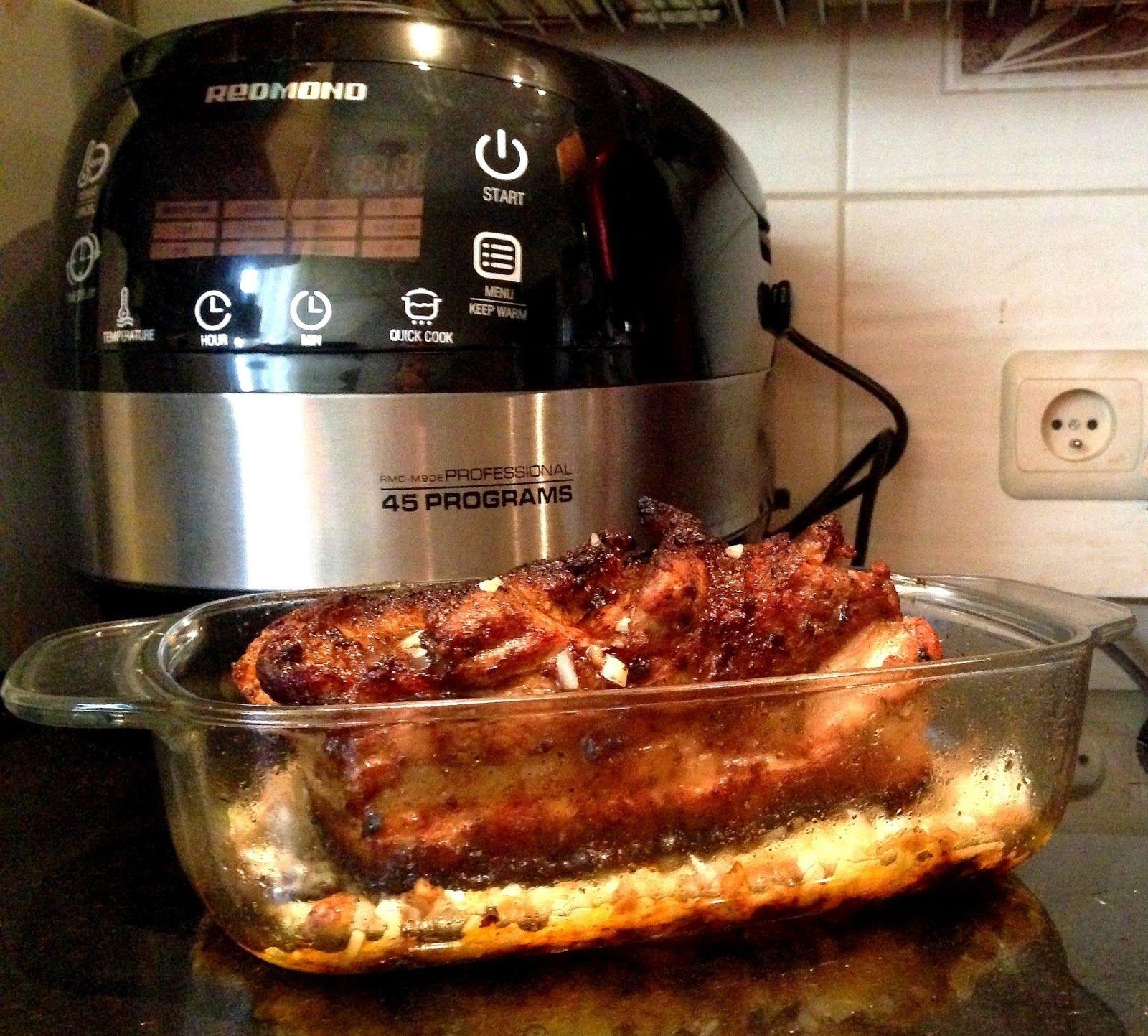 Kulinaria - potrawy z różnych stron świata: Boczek pieczony - multicooker Redmond w akcji