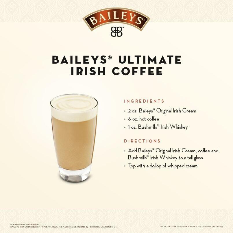 Irish Drinks, Baileys Drinks, Baileys