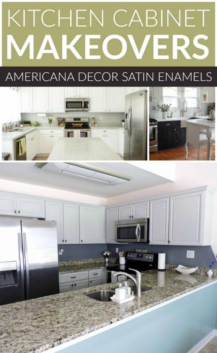 DecoArt Blog   DIY   Kitchen Cabinet Makeovers Satin ...